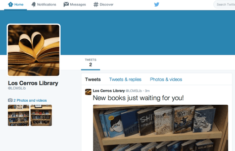 Follow us on Twitter @LCMSLib